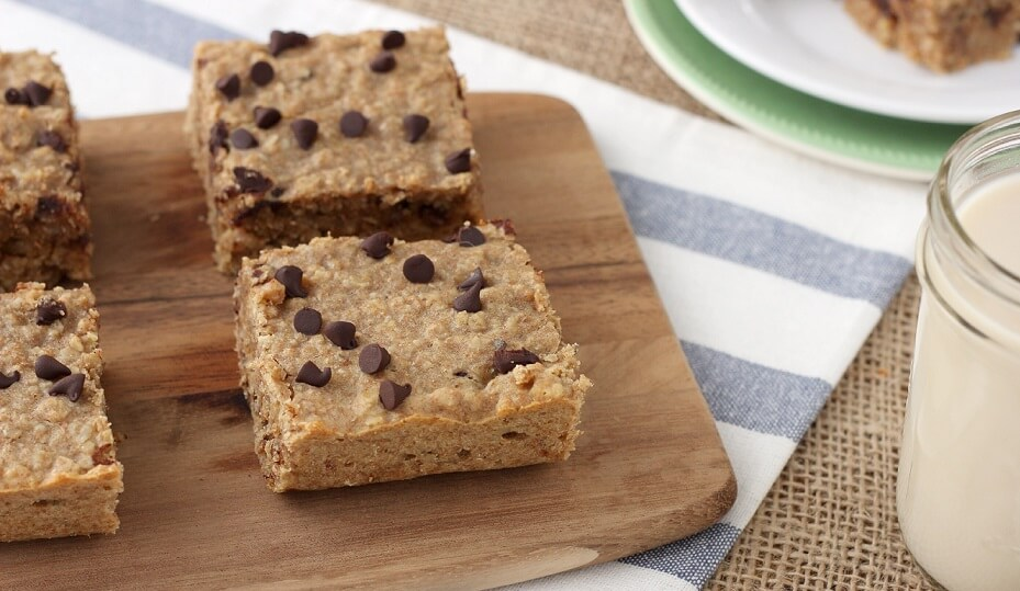 chocolate peanut butter breakfast bars